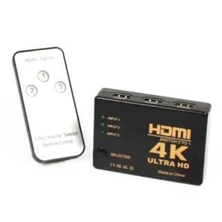 HDMI 切替器 4Kx2K HDMI分配器 セレクター 3入力 1出力(映像用ケーブル)
