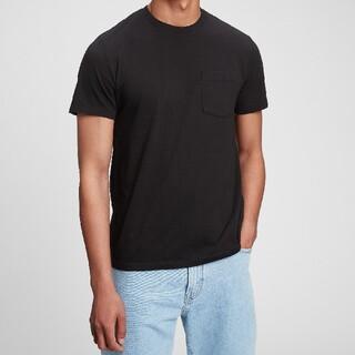 ギャップ(GAP)の【gap】ポケット付Tシャツ ブラック Sサイズ(Tシャツ/カットソー(半袖/袖なし))