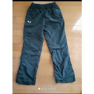 アンダーアーマー(UNDER ARMOUR)のアンダーアーマー  140 パンツ 黒裏起毛パンツ 裾チャックあり(パンツ/スパッツ)
