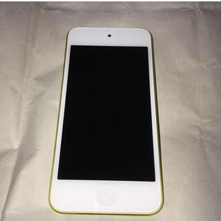 アイポッドタッチ(iPod touch)のiPod touch 第5世代 16gb イエロー 本体のみ バッテリー難あり(ポータブルプレーヤー)