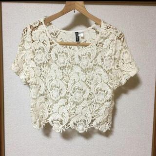 エイチアンドエム(H&M)のクロップドレーストップス(Tシャツ(半袖/袖なし))