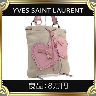 【真贋鑑定済・送料無料】イヴサンローランのハンドバッグ・正規品・良品・カハラ
