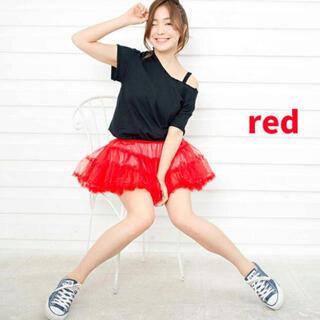 ボディライン(BODYLINE)のボディーライン パニエ 赤 チュチュ レッド コスチューム 衣装 レース フリル(衣装)