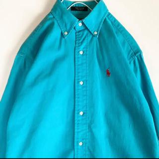 ポロラルフローレン(POLO RALPH LAUREN)のPOLO Ralph Lauren ラルフローレン ターコイズ コットンシャツ(シャツ)