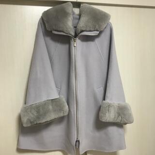 グレースコンチネンタル(GRACE CONTINENTAL)のグレースクラスレッキスファー襟ケープコート(毛皮/ファーコート)