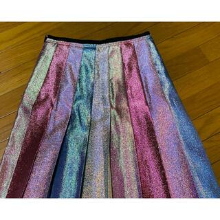 グッチ(Gucci)の期間限定●GUCCIグッチ多色ラメプリーツスカート42新品(ロングスカート)
