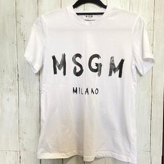 エムエスジイエム(MSGM)のMSGM レディースTシャツ ホワイト XS(Tシャツ(半袖/袖なし))