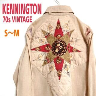 アートヴィンテージ(ART VINTAGE)の70s KENNINGTON ケニントン ビンテージ 柄シャツ USA古着(シャツ)