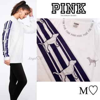 ヴィクトリアズシークレット(Victoria's Secret)の新品未使用♡VS PINK♡豪華ライン✨PINK Dogのトップス(Tシャツ(長袖/七分))