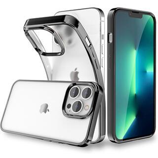 iPhone13 pro ケース 半透明 6.1インチ マット 薄型 ブラック(iPhoneケース)
