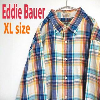 エディーバウアー(Eddie Bauer)のEddie Bauer エディーバウアー ビッグサイズ チェック柄 シャツ XL(シャツ)