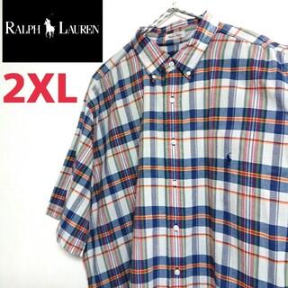 Ralph Lauren ラルフローレン ビッグサイズ 半袖 チェック柄シャツ(シャツ)