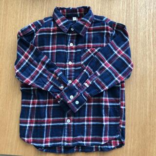ムジルシリョウヒン(MUJI (無印良品))の無印良品 キッズ フランネル チェックシャツ 120(ブラウス)