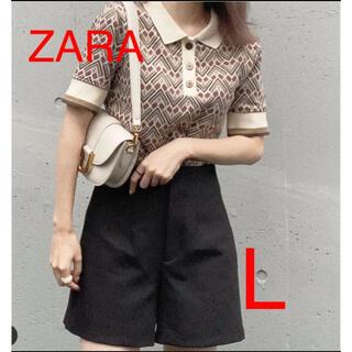 ザラ(ZARA)のZARA SPALDING ® ジャカード ポロシャツ L 完売(ポロシャツ)