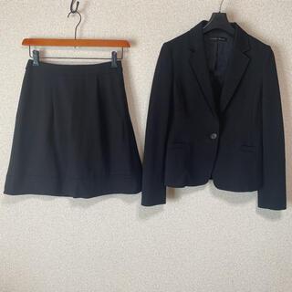 グリーンレーベルリラクシング(green label relaxing)のグリーンレーベル スカートスーツ 36 W66 黒 ストレッチ DMW(スーツ)