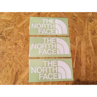 THE NORTH FACE - ノースフェイス カッティングステッカー 白 3枚 正規品