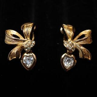 Christian Dior - ✨美品✨ ディオール イヤリング ゴールド リボン ハート ヴィンテージ