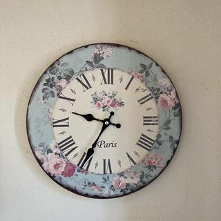 花柄 掛け時計 フレンチカントリー