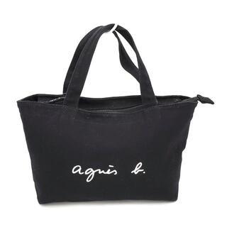 アニエスベー(agnes b.)のアニエスベー ハンドバッグ - 黒×白(ハンドバッグ)