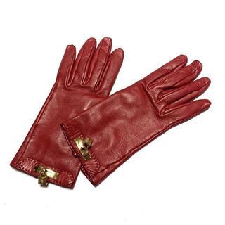 エルメス(Hermes)のエルメス 手袋 レディース - レッド(手袋)