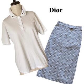 クリスチャンディオール(Christian Dior)のChristian Dior SPORTS ゴルフ刺繍 ポロシャツ (262)(ポロシャツ)