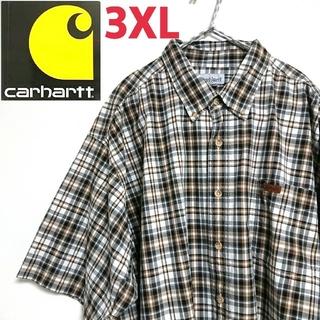 カーハート(carhartt)のCarhartt カーハート ビッグサイズ 半袖 チェック柄 BDシャツ 3XL(シャツ)