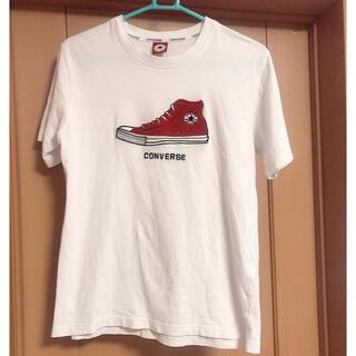 CONVERSE - 【古着美品】コンバース スニーカーモチーフ付きTシャツ