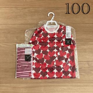 マリメッコ(marimekko)のmarimekko uniqlo ベビー長袖Tシャツ レギンスセット(Tシャツ/カットソー)
