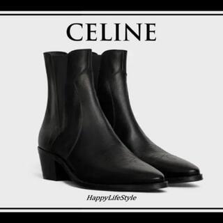 セリーヌ(celine)のセリーヌ エディスリマン ウエスタン チェルシー ブーツ 35(ブーツ)