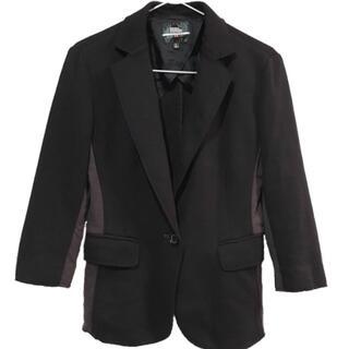 ダブルスタンダードクロージング(DOUBLE STANDARD CLOTHING)のユニクロ×ダブルスタンダードクロージング ジャケット ブラック×グレー(テーラードジャケット)