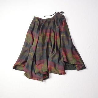 ディーゼル(DIESEL)のDIESEL ディーゼル 変形スカート ネイティブ柄(ロングスカート)