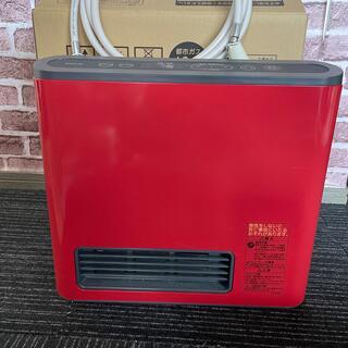 ノーリツ(NORITZ)のガスファンヒーター GFH-2402S レッド ガスホース付き(ファンヒーター)