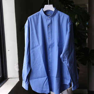 コモリ(COMOLI)のA.PRESSE  Band Collar Shirt SAX(シャツ)