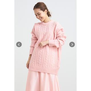 ドゥロワー(Drawer)のyori 【新品】2021AW ウールケーブルニット ピンク(ニット/セーター)