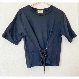 アズノウアズ(AS KNOW AS)のレースアップTシャツ(Tシャツ(半袖/袖なし))