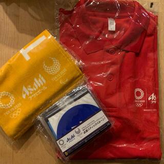 アサヒ(アサヒ)のアサヒビールノベルティ ポロシャツ タオル 東京オリンピック2020(ノベルティグッズ)