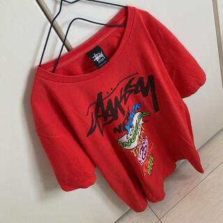 チャムス(CHUMS)のステューシー ワールドツアー Tシャツ(Tシャツ/カットソー(半袖/袖なし))