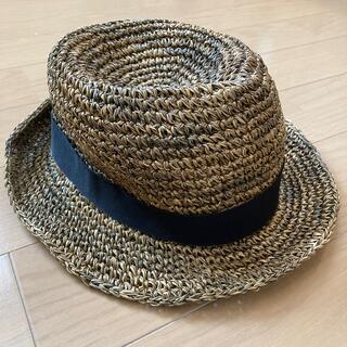 ムジルシリョウヒン(MUJI (無印良品))の無印良品中折れ帽子(麦わら帽子/ストローハット)