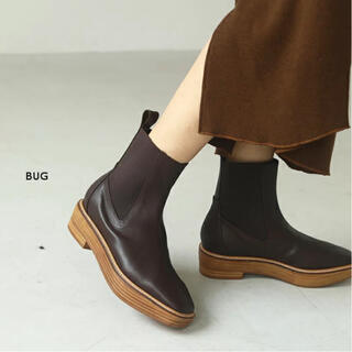 トゥデイフル(TODAYFUL)のTODAYFUL ♦ プラットフォームレザーブーツ BUG 37サイズ(ブーツ)