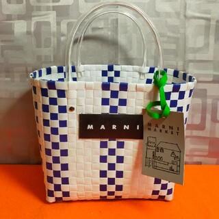 Marni - 【新品】マルニ カゴバッグ フラワーカフェ ピクニックバッグ