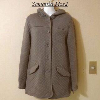 サマンサモスモス(SM2)のSamansa Mos2サマンサモスモス♡ノーカラーキルティングジャケット(ブルゾン)
