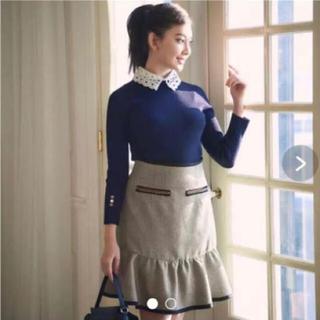 リランドチュール(Rirandture)のリランドチュール ツイード切り替えAラインスカート (ミニスカート)