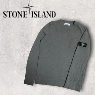 STONE ISLAND - STONE ISLAND ストーンアイランド ウールニット カーキ