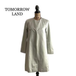 トゥモローランド(TOMORROWLAND)のTOMORROW LAND トゥモローランド コート ライトグレー レディース(ロングコート)
