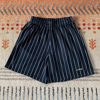 アシックス(asics)のレア!ボーラホリック LOGO STRIPE Zip Shorts ブラック L(ショートパンツ)