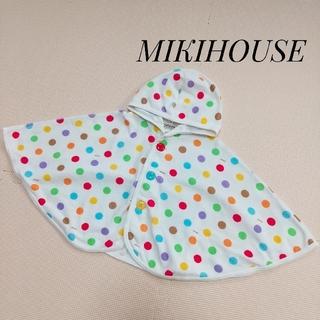 ミキハウス(mikihouse)のMIKIHOUSE ポンチョ アウター  ドット柄(ジャケット/コート)