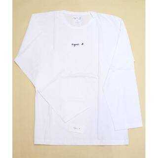 アニエスベー(agnes b.)のフランス製 未使用 アニエスベー ロンT 長袖 タグ付き 白 レディース M L(Tシャツ(長袖/七分))