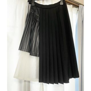 ルシェルブルー(LE CIEL BLEU)のルシェルブルー プリーツドッキングスカート(ひざ丈スカート)