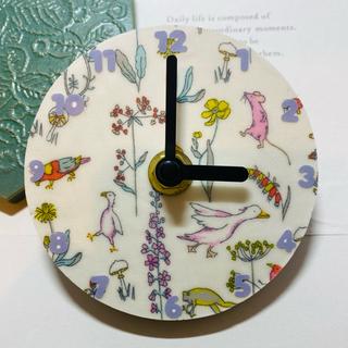 リバティ 壁時計 ミニ 動物 花 ネズミ 鳥 壁掛け時計 ウォッチ ハンドメイド