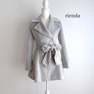 rienda - rienda リエンダ ベルト付き ダブルフレアコート